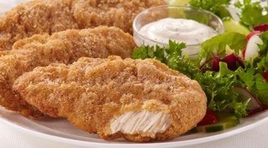 chicken tenders and ramekin of sauce