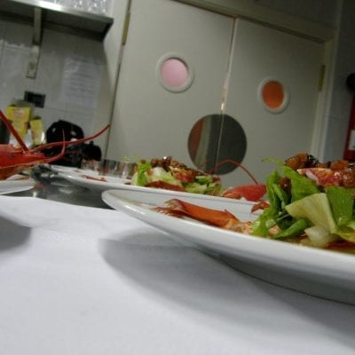 seafood in kitchen
