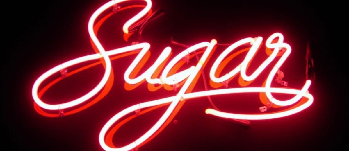 sugar neon sign