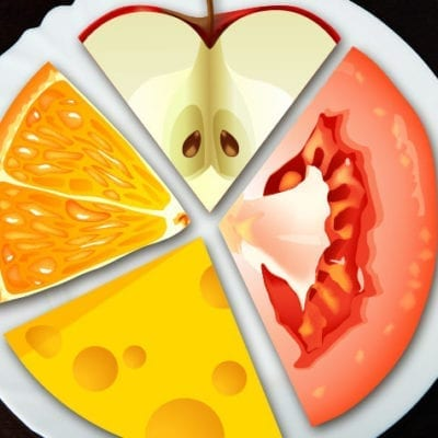 Cartoon food chart