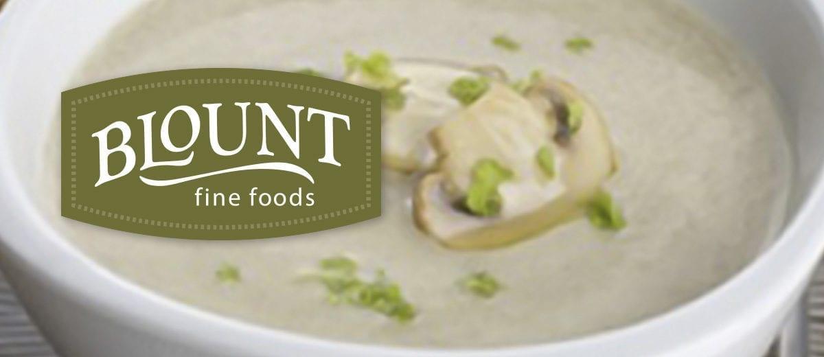 blount logo with wild mushroom bisque