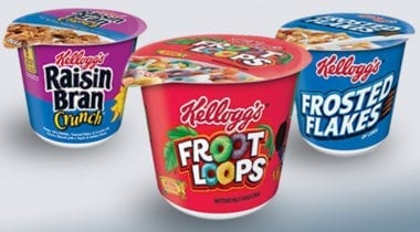 kelloggs froot loops cereal cup