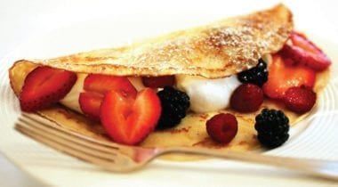 kellogs crepe with fruit
