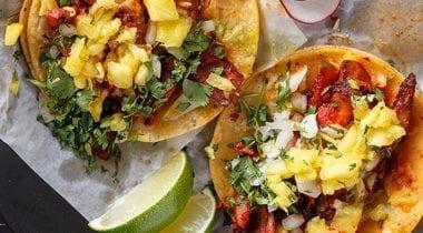 street tacos open face loaded