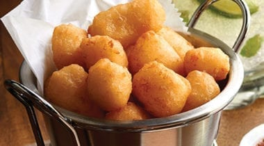 fried cheese curds in a dish