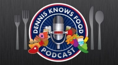 dennis knows food podcast logo