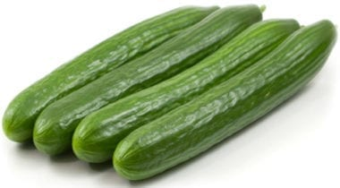 4 european cucumbers