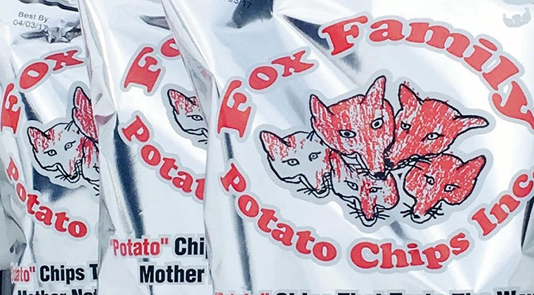 fox family chips bags