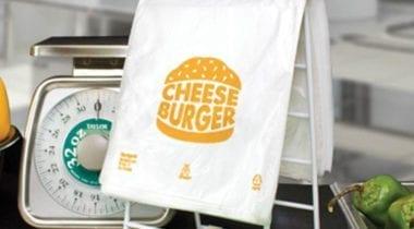plastic cheeseburger bag