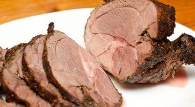 sliced roast lamb leg