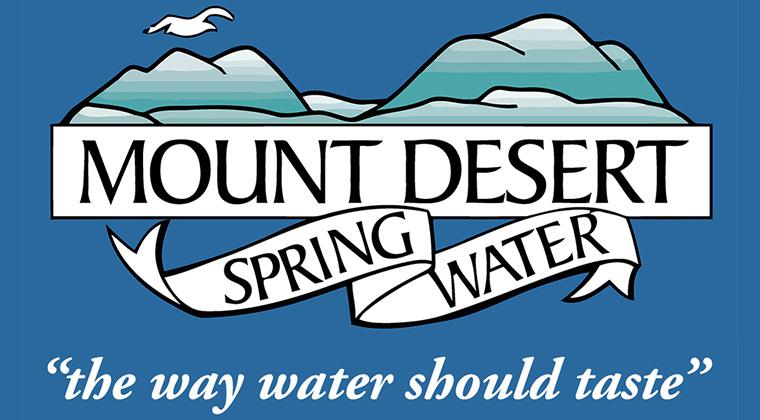mount desert spring water logo graphic
