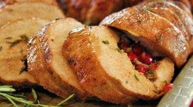 sliced roast pork loin