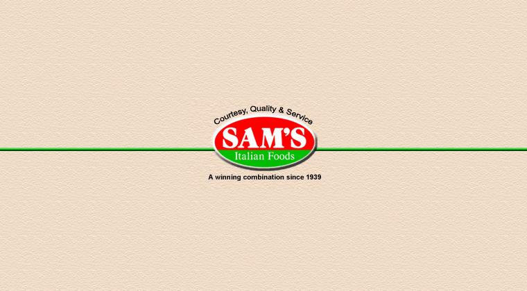 sams italian foods logo graphic