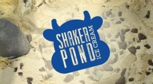shaker pond ice cream logo graphic
