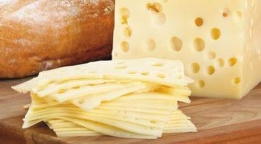 sliced swiss cheese