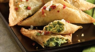 spinach and artichoke wedge appetizers