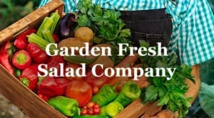garden fresh salad company logo graphic