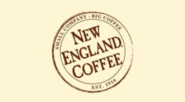 new england coffee logo graphic