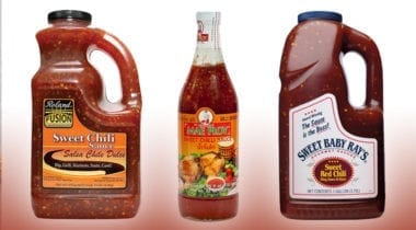 bottles of thai chili sauce