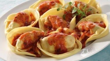 tortelini with sauce