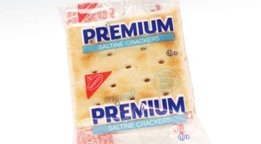 wrapped saltines