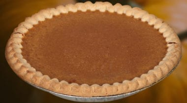 whole unsliced pumpkin pie