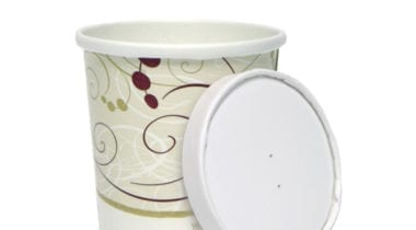 paper soup container with lid