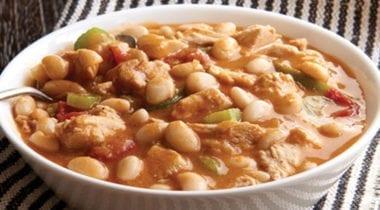 white chicken chili in a bowl