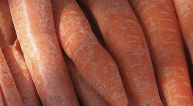 whole unpeeled carrots