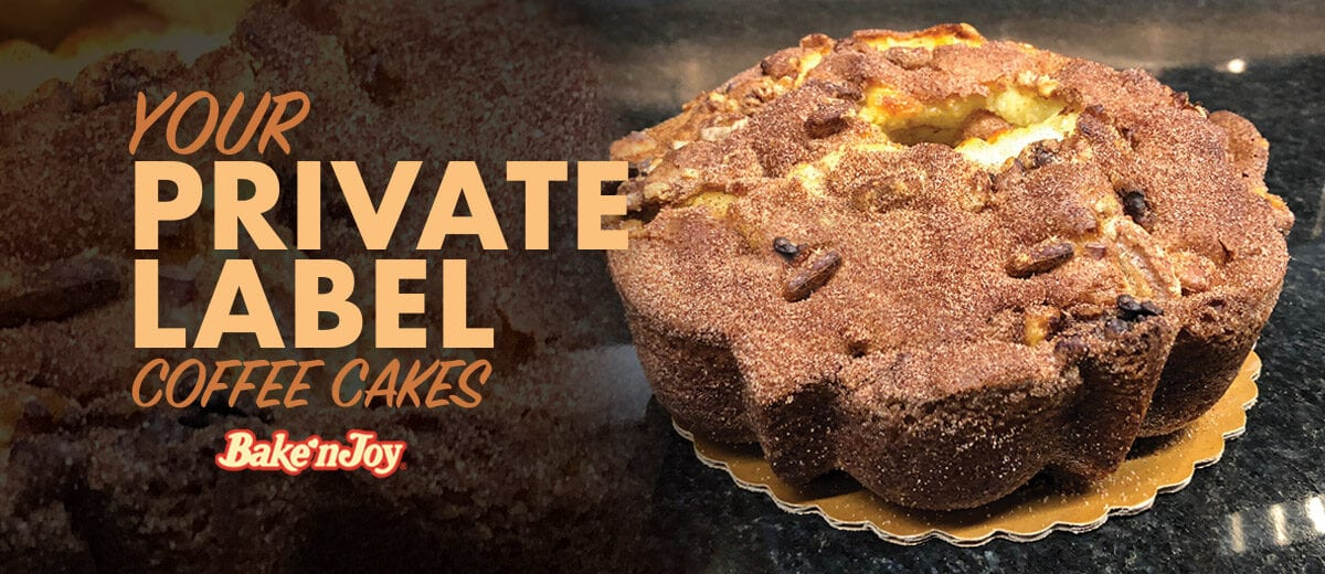 Bake N' Joy Coffee Cake Private Label banner