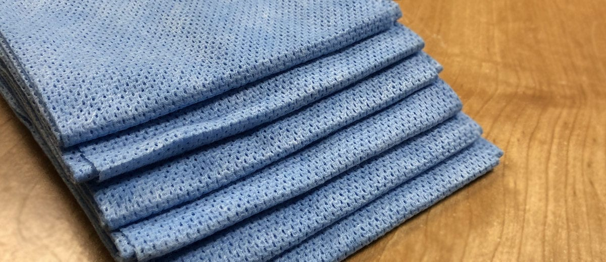 blue dish cloth wipe