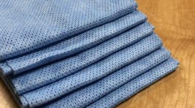 blue dish cloth wipe