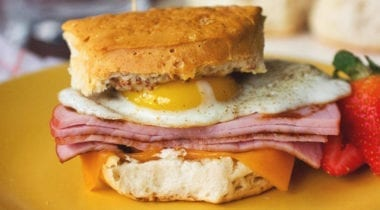 ham, egg and cheese sandwich