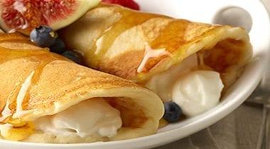 yogurt stuffed pancake