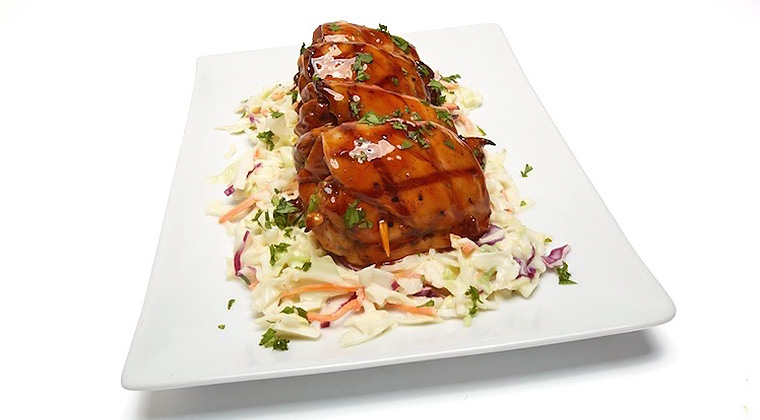 bourbon chicken and slaw
