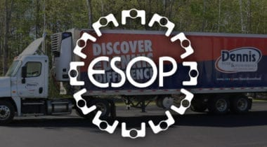 ESOP logo with delivery truck backdrop