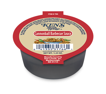 ken's cannonball bbq 1.25 ounce cup