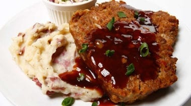 meat loaf with sauce