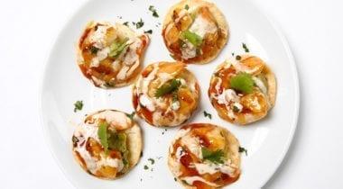grilled shrimp and avocado tostadas