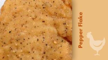 pepper flake breaded chicken