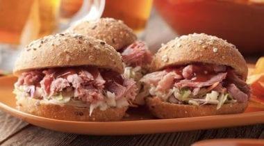 pork carnitas with slaw sandwich