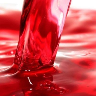 pouring cranberry juice