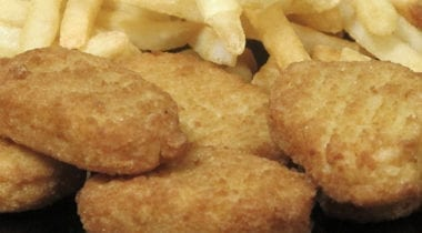 tyson chicken nuggets with fries