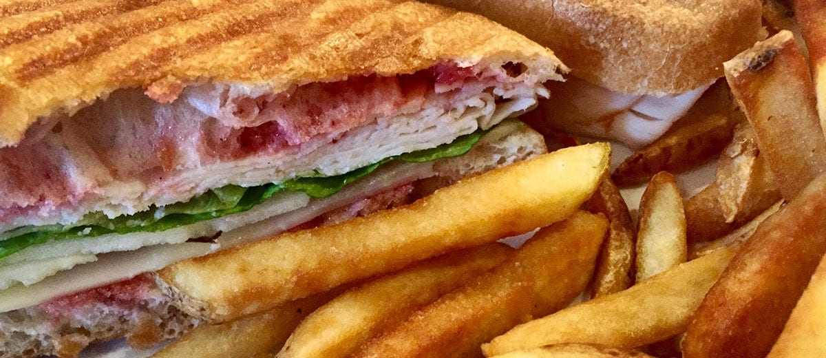 turkey panini with fries