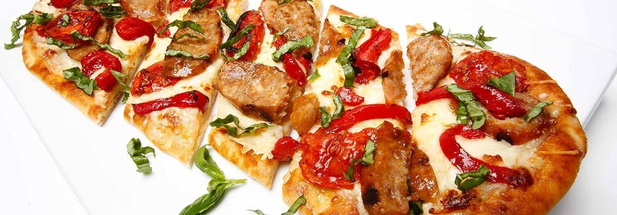 roasted tomato Italian flatbread