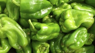 whole green peppers