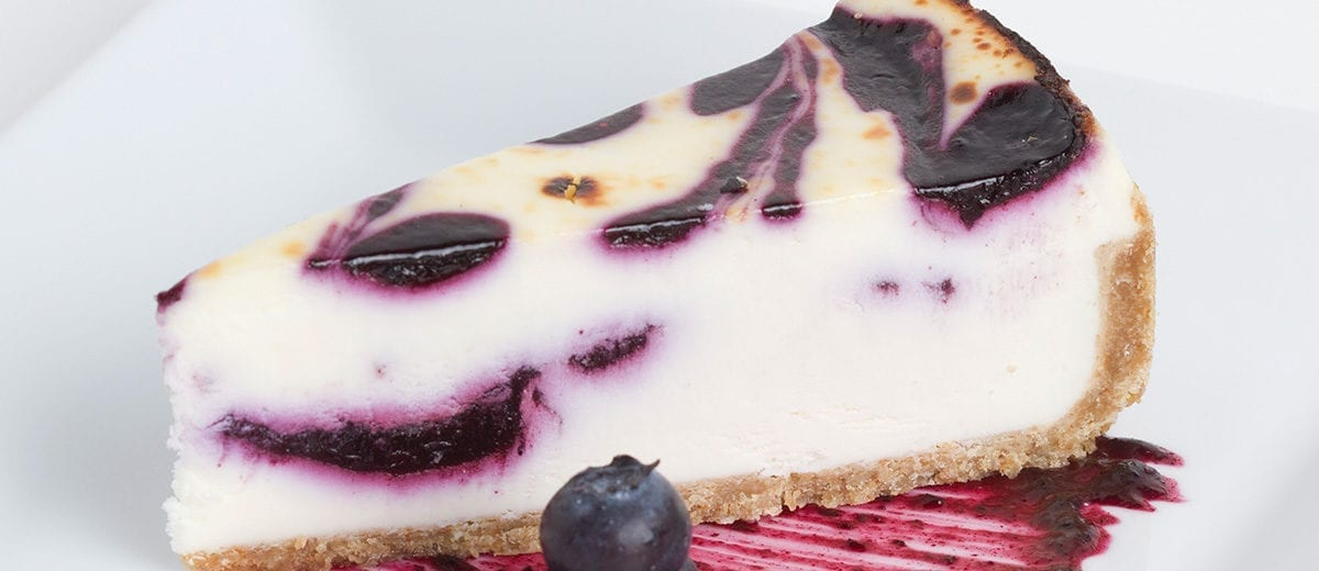 sweet street desserts chocolate blueberry cheesecake slice