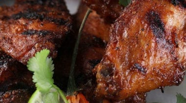 grilled bohemian chicken wings with lime