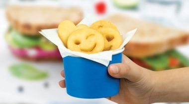 mccain emoticon fries in cup