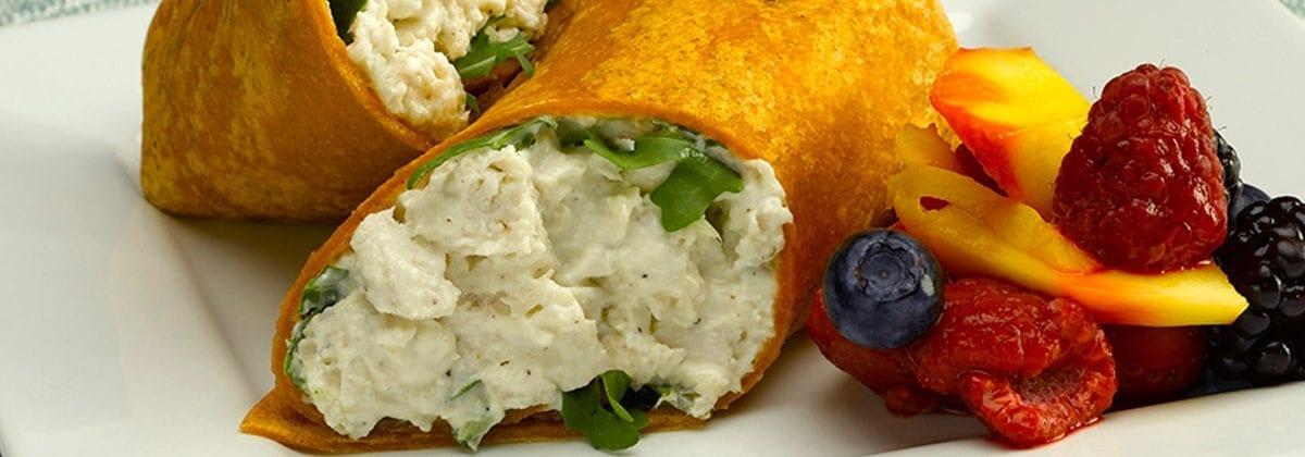 chicken salad in wrap